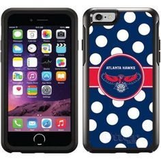 Atlanta Hawks Polka Dots Design on OtterBox Symmetry Series Case for Apple iPhone 6