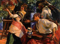 Jose Mongrell i Torrent Comics Illustration, Illustrations, Spanish Painters, Spanish Artists, Mongrel, Old Master, Master Art, Artist Painting, Beautiful Paintings