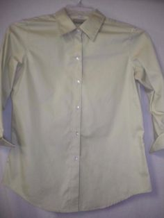 3d25203597216 Liz Claiborne Size Small Light Lime Button Front Womens Career Dress Shirt   LizClaiborne  ButtonDownShirt  Career