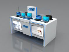 ASUS 2X1 on Behance Kiosk Design, Display Design, Booth Design, Mobile Kiosk, Mobile Shop, Interior Design Exhibition, Exhibition Stand Design, Cell Phone Kiosk, Retro Signage