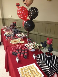 Mickey and Minnie Mouse Birthday Party Ideas Minnie Mouse Birthday Decorations, Minnie Mouse Theme Party, Mickey Mouse Baby Shower, Mickey Mouse 1st Birthday, Mickey Mouse Clubhouse Party, Mickey Mouse Parties, Mickey Party, Twins 1st Birthdays, Birthday Parties