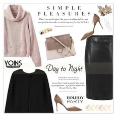 """Yoins"" by aurora-australis ❤ liked on Polyvore featuring GUESS, Chloé, Jimmy Choo, polyvoreeditorial, HolidayParty and yoins"