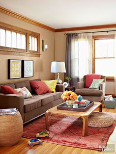 When considering neutral colors, don't forget about rich, classic, natural brown shades! This versatile color can be paired with white, warm hues, blues, greens, yellows, purples, or lighter shades of brown (like latte) to create a gorgeous color palette. Whether you're looking for a new paint color for your walls, a couch, a chair, or any other room décor accent, try adding in a beautiful brown shade that will match with many other hues.