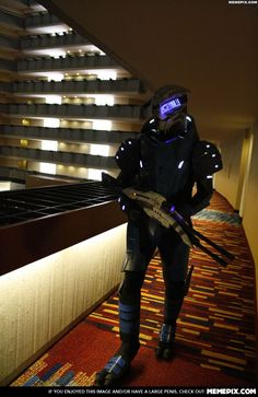 Mass Effect cosplay- saddest thing is, I know exactly where this picture was taken.