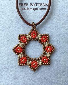 Free pattern for pendant Stella – - Perlen Schmuck Beading Patterns Free, Beaded Jewelry Patterns, Bracelet Patterns, Free Pattern, Weaving Patterns, Embroidery Patterns, Mosaic Patterns, Crochet Patterns, Knitting Patterns