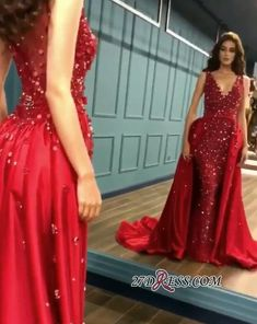 90e18f51b Sexy Red Crystal Sequins Prom Dresses 2019 Ruffles Long Evening Gowns  BC0423 Item Code: VD010