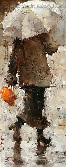 Chic Parisienne - Oil by Andre Kohn