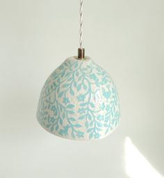 Hey, I found this really awesome Etsy listing at https://www.etsy.com/listing/200254268/porcelain-pendant-lamp-in-aqua-blue-and