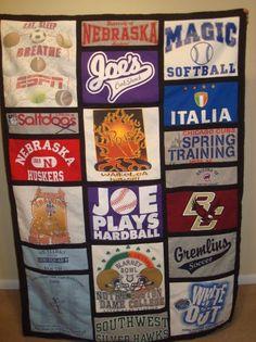 Custom T-Shirt Blankets By Designs By Addie Lee