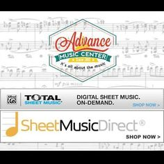 Looking for sheet music? Advance Music has partnered with Total Sheet Music and Sheet Music Direct to allow customers to download digital sheet music directly from Alfred and Hal Leonard's  expansive music libraries. You can download transpose and print sheet music anywhere at any time. Links on our website advancemusicvt.com #vtmusic #sheetmusic #halleonard #alfred #advancemusicvt #download by advancemusicvt