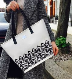 Bounty embroidered leather tote <3