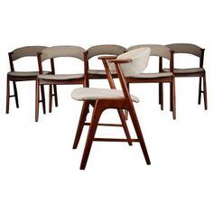 6 chaises Scandinave, Kai KRISTIANSEN - années 60 http://www.design-market.fr/1440-6-chaises-scandinave-kai-kristiansen-ann%C3%A9es-60.html