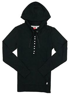 Puma Womens Heritage Lightweight Hoodie Black Large ** Click image to review more details.