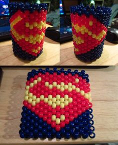 Perler Beads Superman | Superman Cuff for MCP by MangoMayhem - Kandi Photos on Kandi Patterns