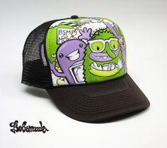 079834eafba Monster design custom trucker hat Custom Caps