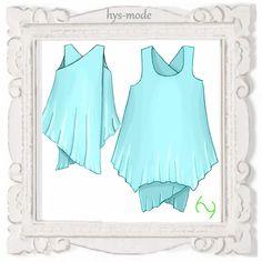 DESIGNER hys-mode Schnittmuster Lagenlook Tunika * YARA * Trägerrock Kleid Over