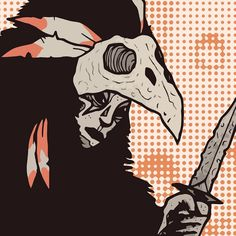 Crow the Hunter - Close up of the new print in my store. I got some new stuff up on my shop (link in bio ☝🏻️). Go check it out and tell ya friends! Worldwide shipping and free stickers with every order! - #Art #Artprint #Illustration #Ghost #Skull #Death #RatHaus #Creepy #FantasyArt #Dungeon #Crawler #Character #Design #YOTR #YearOfTheRat #LowBrow #LowBrowArt #BrutSubmission