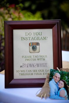 DIY: Wedding Instagram Sign.  Photography by: LeAnna Azzolini Photography