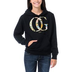 The Obey OG Spring pullover hoodie just added a little flower fun to a black sweatshirt. The Zumiez Exclusive Obey hoodie features an allover black cotton/poly blend material with a super soft fleece lining and a gold and floral print OG front graphic. The long sleeves, front pouch pocket, and drawstring hood make the OG Spring pullover hooded sweatshirt comfy for any occasion.