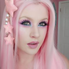 Addicted To Pretty Kawaii Hairstyles, Pretty Hairstyles, Eden Hair, Pastel Hair, Pastel Goth, Caring For Colored Hair, Kelly Eden, Girly Girl Outfits, Celebrity Skin