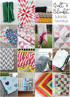 Easy Quilt & Blanket Roundup // lemon squeezy home