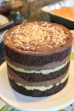 German Chocolate Cake Recipe By Kaitlin Chad Editorial Assitant For Reign Magazine Reign Magazine