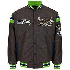 NFL Seattle Seahawks G-iii Sports By Carl Banks Victor Reversible Wool Jacket  #GIII #SeattleSeahawks