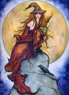 SciFi and Fantasy Art Joelle Fantasy Witch by Renee L. Lavoie