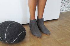 Grey Suede Boots Review. Footwear review by FashionHunters's Blogger. Danish Design, Suede Booties, Footwear, Booty, Stylish, Grey, Fashion, Suede Ankle Boots, Gray