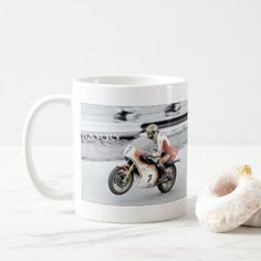 #Barry Sheene 2 the hand tinted version Coffee Mug - #drinkware #cool #special