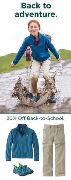 Gear up and get back with 20% off book packs, kids' clothing and more