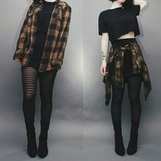 Ways to Wear Chic Grunge Outfits in Spring Grunge fashion is based on the grunge music scene. Grunge outfits are mostly comfortable, dirty, torn, checkered and heavily infused with flannel – Plaid Shirt Outfits, Crop Top Outfits, Fall Outfits, Blazer Outfit, Summer Outfits, Romper Outfit, Black Skirt Outfits, Sweatpants Outfit, Plaid Shirts