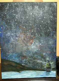 Pintura sobre tela acrílica Por Roseli L.Alcino Marangon