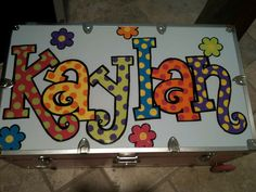 Custom Hand painted Trunk by thatssonif on Etsy