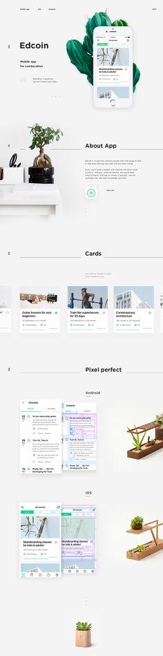 Edcoin - #ui #ux #userexperience #website #webdesign #design #minimal #minimalism #art