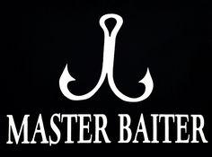 Master Baiter. Funny Fishing Vinyl Decal