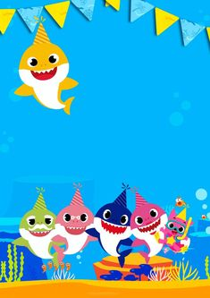 Convite Baby Shark para editar 4 Source by CPruittLee Free Baby Shower Invitations, Baby Sprinkle Invitations, Printable Baby Shower Invitations, Birthday Invitations, Shark Birthday Cakes, Baby Birthday, 1st Birthday Parties, Baby Hai, Birthday Template
