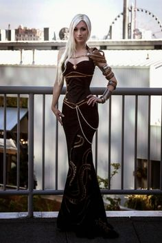 Kato. Pretty steampunk dress!