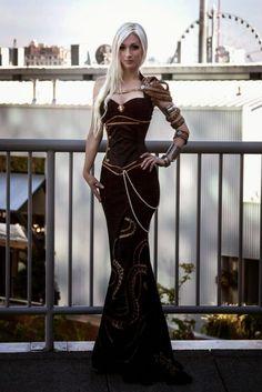 Kato. Pretty steampunk dress!