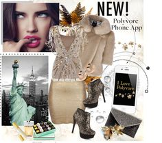 """""""Design an Ad for the Polyvore iPhone App"""" by tanya777 ❤ liked on Polyvore"""