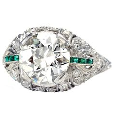 Out of this World Diamond & Emerald Ring