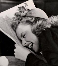 Judy Garland in stitches