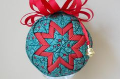 quilted ornament quilted christmas ornament by TuTuSweetDiva, $12.00
