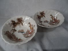 "Vintage Johnson Bros. ""The Old Mill""-Ceramic English Transferware Bowls by BCScollectibles on Etsy"