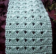Free Crochet Slant Stitch June Scarf Pattern.