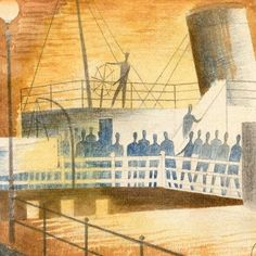 Eric Ravilious: 'Greenwich Pier' (detail), 1937