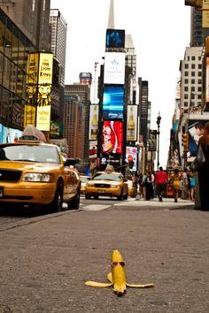 Banana en Times Square, NY