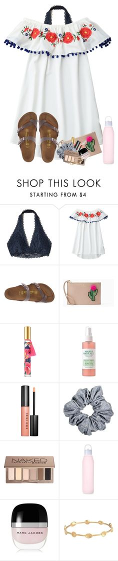 """QOTD: when do you go back to school?"" by zoejm ❤ liked on Polyvore featuring Hollister Co., Birkenstock, Kate Spade, Victoria's Secret, Bobbi Brown Cosmetics, Urban Decay, Marc Jacobs and Melinda Maria"