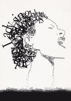 Jazz Typography Art Print by turtlegirl Typography Wallpaper, Typography Prints, Billie Holiday, Music Love, Art Music, Lady Sings The Blues, Pam Pam, Jazz Poster, Jazz Art