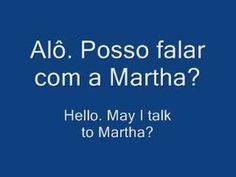 Learn Brazilian Portuguese Language Phrases - A Phone Call Portuguese Words, Learn Brazilian Portuguese, Portuguese Lessons, Portuguese Language, French People, Learn A New Language, Foreign Language, Vocabulary